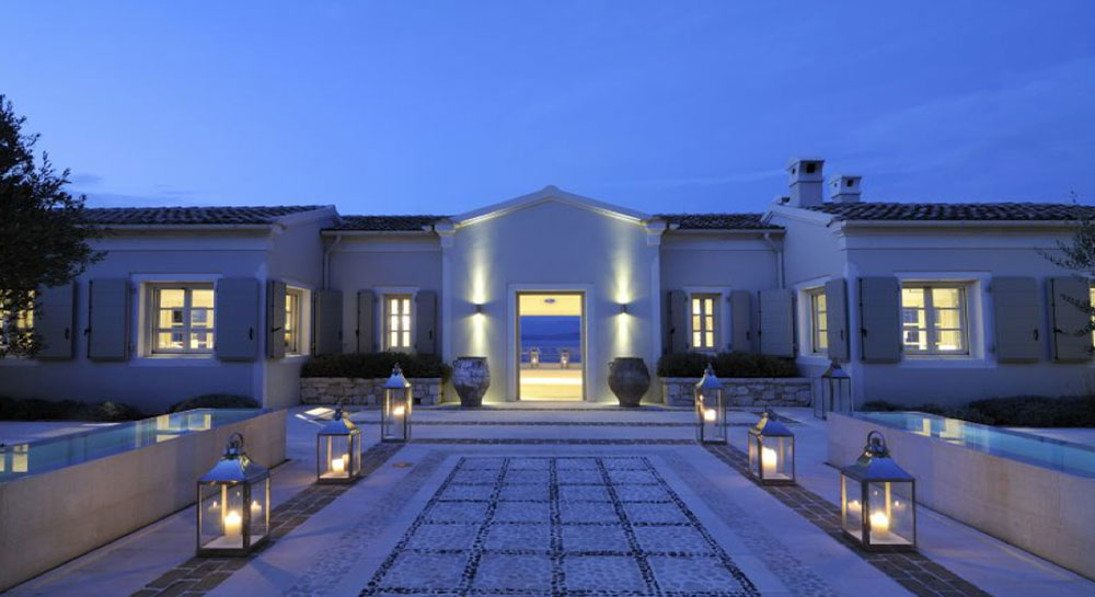 luxury travel - bright blue villas
